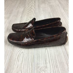 Cole Haan Cheetah Patent Leather Loafer Size 8AA